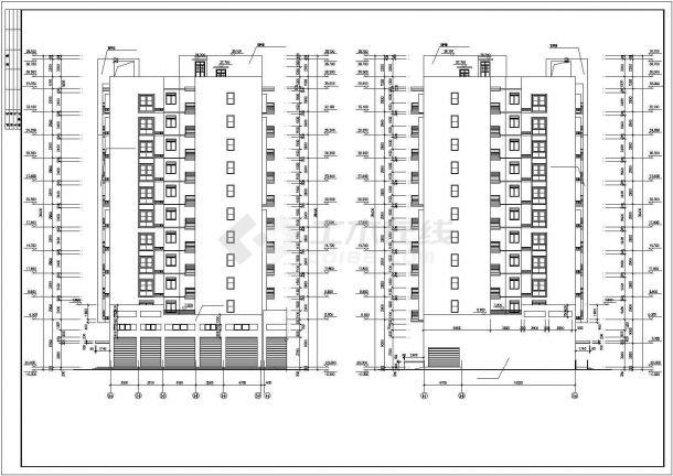 扬州市熙晨小区11层框架结构住宅楼建筑设计CAD图纸(含夹层和效果图)-图二