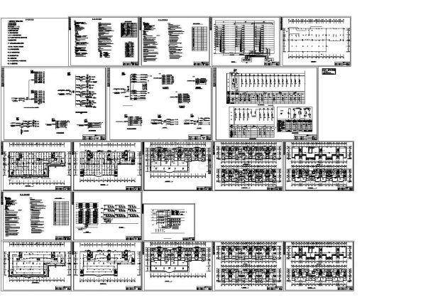 高层商住楼强弱电设计cad-图二
