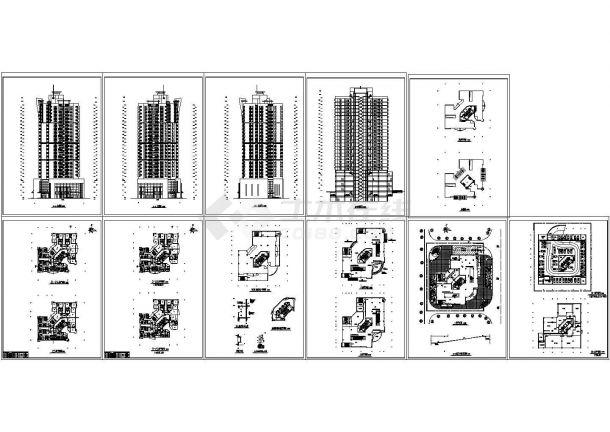 高层商住楼电气设计方案cad-图一