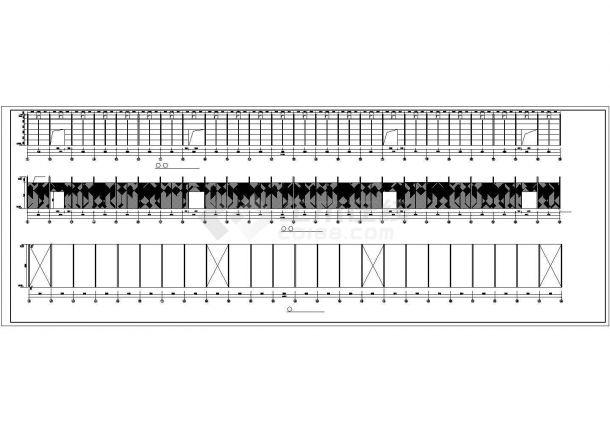 某产业园双跨单层轻型门式钢架粮库结构建筑设计施工CAD图纸-图二
