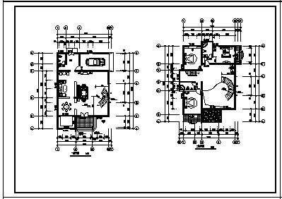 别墅设计_某3层砖混结构欧式别墅建筑结构施工cad图纸-图二