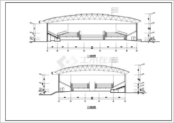某产业园电业网架工程建筑设计施工CAD图纸-图一