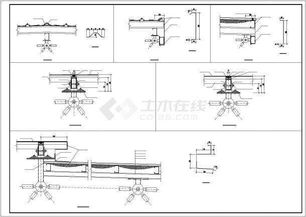 某产业园电业网架工程建筑设计施工CAD图纸-图二