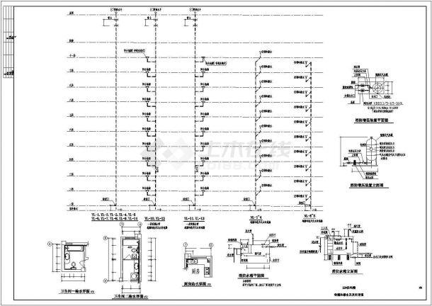 某地上十一层建筑给排水图纸(共7张图纸)-图一