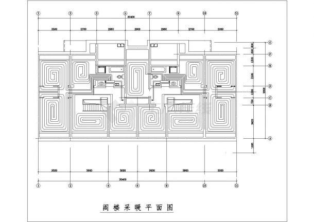 某住宅楼低温热水地板辐射采暖系统设计cad图纸,含设计说明-图一