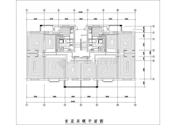 某住宅楼低温热水地板辐射采暖系统设计cad图纸,含设计说明-图二