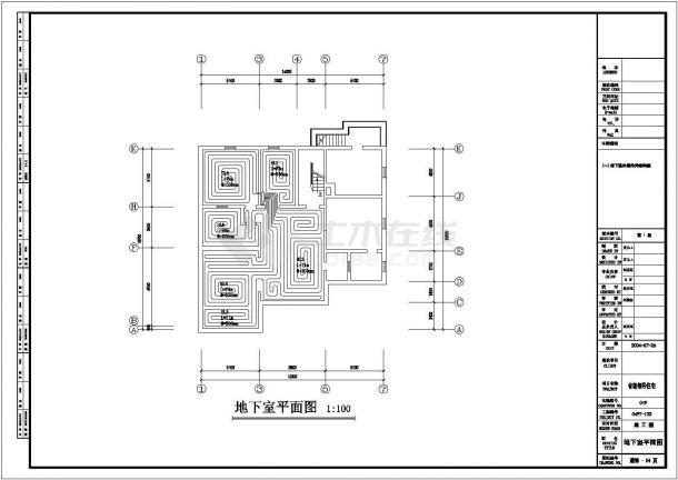 新疆某高官自建别墅地板辐射采暖设计施工图-图一