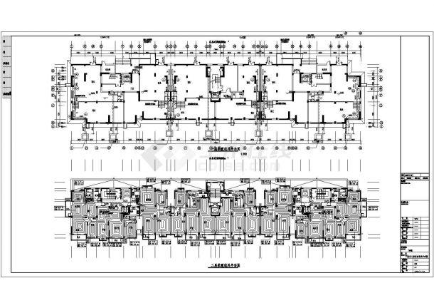 华北某小高层住宅楼地板辐射采暖暖通设计图-图一