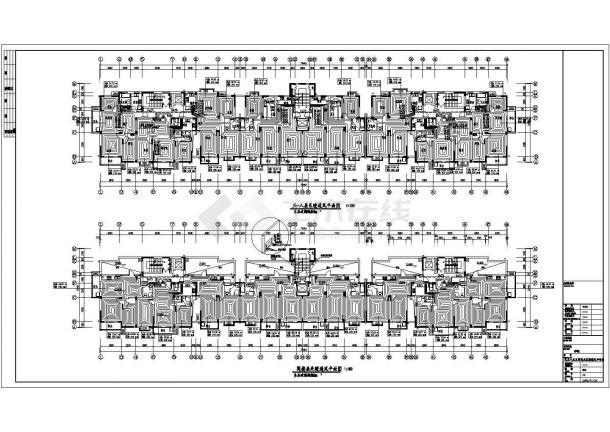 华北某小高层住宅楼地板辐射采暖暖通设计图-图二