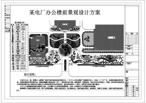 某厂区中心广场景观设计方案图-图一