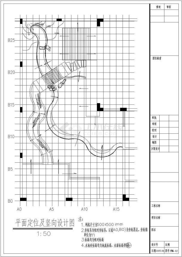 某别墅园林景观施工全套图纸(共10张图纸)-图一