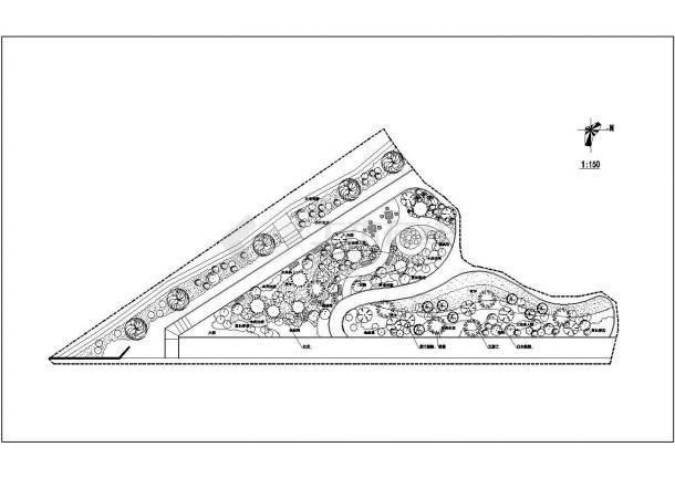 某主题公园园林景观施工图(共10张图纸)-图一