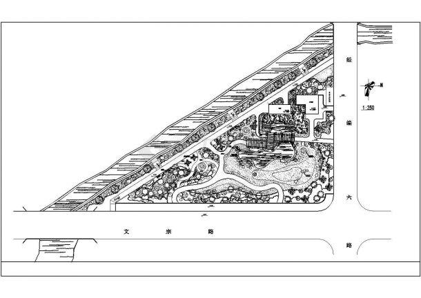 某主题公园园林景观施工图(共10张图纸)-图二