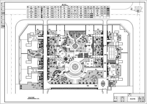 某休闲公园园林景观施工图(共9张图纸)-图二