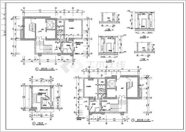 某人防地下室建筑设计图,含设计说明-图一