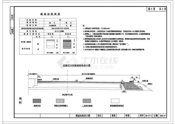 [浙江]省道路面结构设计方案图-图一