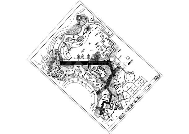 某小区园林绿化施工cad图,共18张图-图一