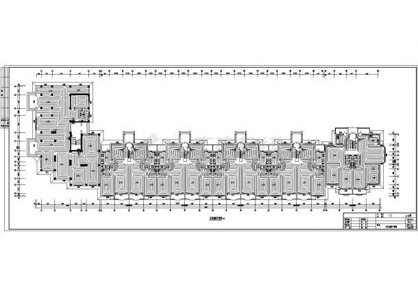 低温地板辐射采暖设计施工图-图一