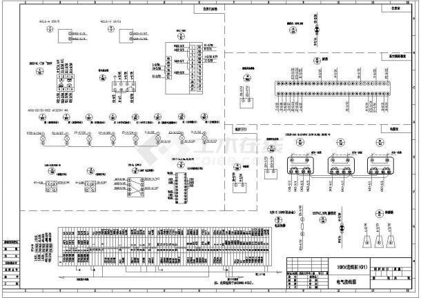 变电所10KV进线、计量柜、变压器柜原理图-图二