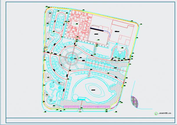 [山东]城市广场园林景观工程施工图-图一
