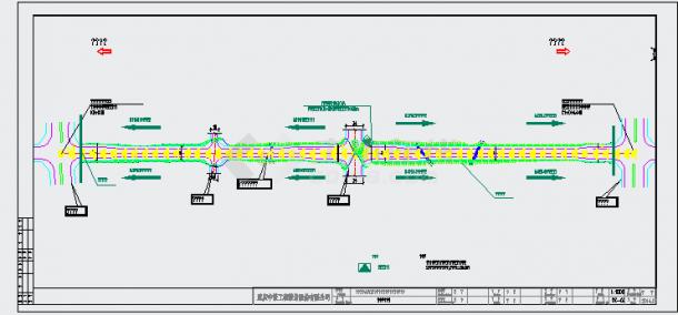 [重庆]路幅26m城市标准分区道路交通照明及排水管网工程施工图72张CAD(附清单)-图一