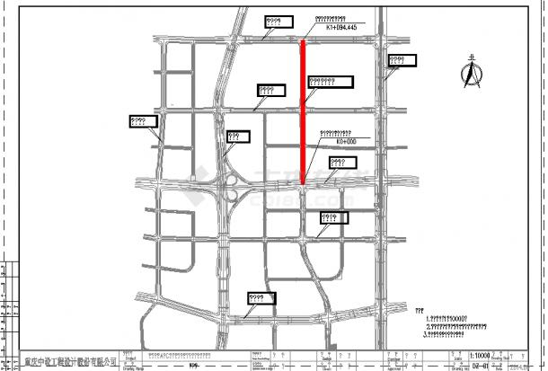 [重庆]路幅26m城市标准分区道路交通照明及排水管网工程施工图72张CAD(附清单)-图二