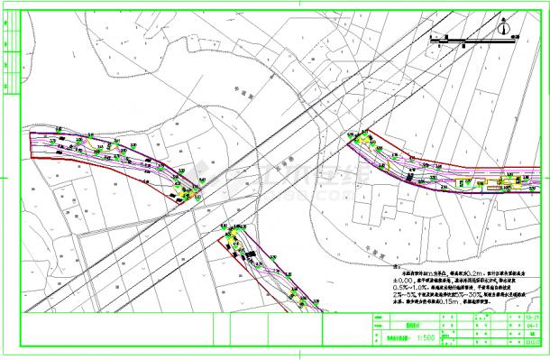 运河景观绿化环境施工场平设计图(95张)-图一