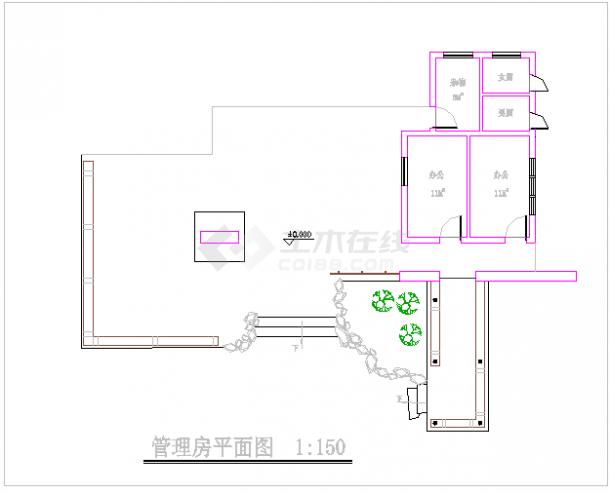 [杭州]某滨水河道局部园林工程施工图-图一