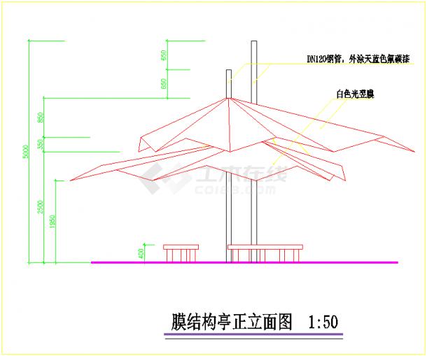 [杭州]某滨水河道局部园林工程施工图-图二