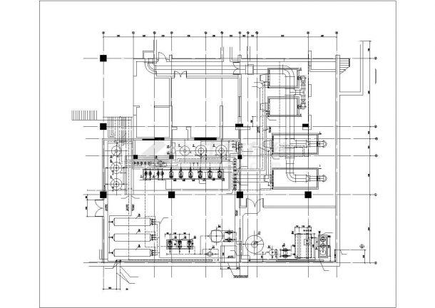 某地下锅炉房工艺设计及管道布置图-图二