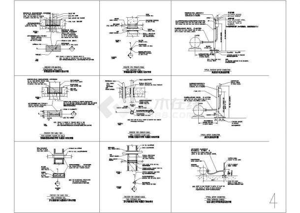 建筑电气施工常用节点详图汇总(桥架、线管、机电设备)-图二