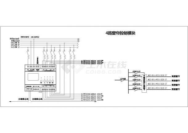 智能照明系统图及接线原理图-图一