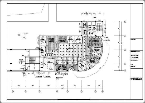 某房地产公司五层办公室装修电气设计施工图-图二