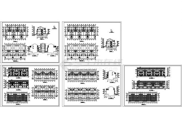 小型三层住宅楼建筑图(不含说明)-图一