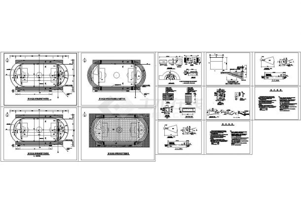 某职业技术学院体育场改造工程建筑施工图-图一
