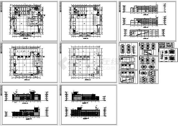 某17米23层学校食堂全套施工图(含效果图)-图一
