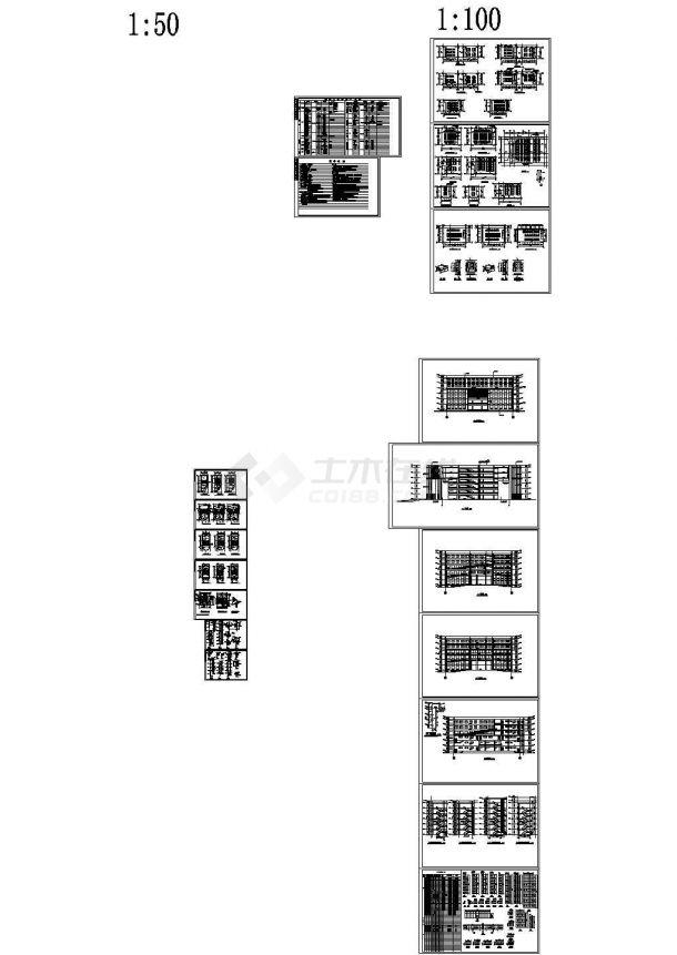 某27500平方米六层职业技术学院施工图纸(含总平面设计方案、6层单体建筑施工图等)-图一