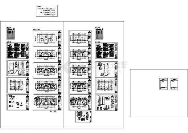 某高24米花园小区八层住宅给排水消防设计图纸  -图一