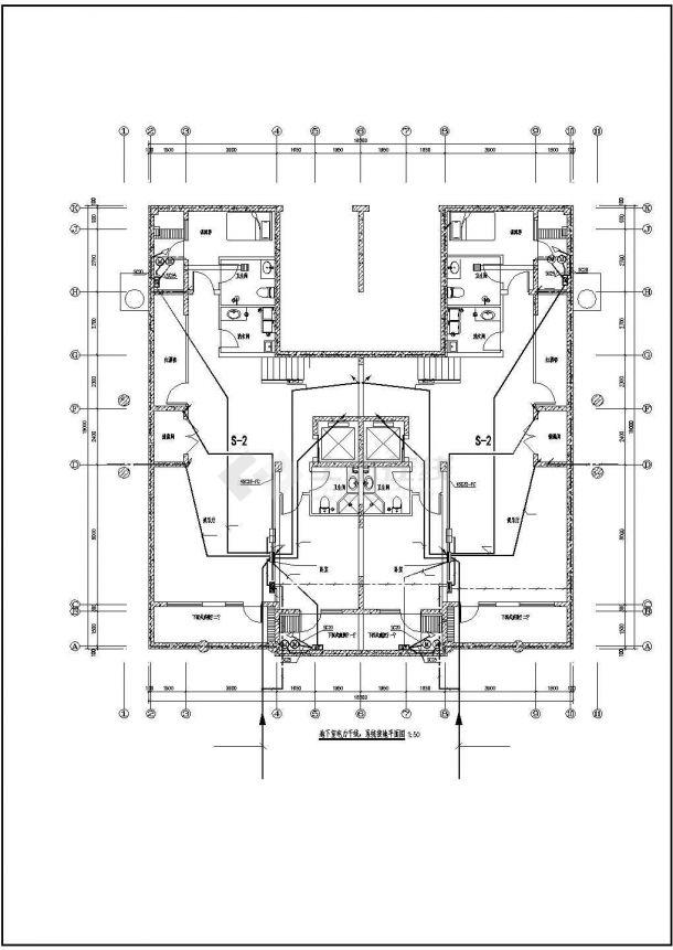 三层别墅建筑电气设计施工图-图一