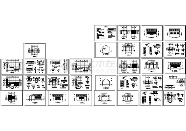 古建筑施工设计CAD图-图一
