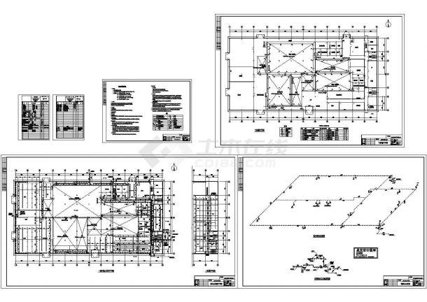 室内消火栓系统及气体灭火系统设计图-图一