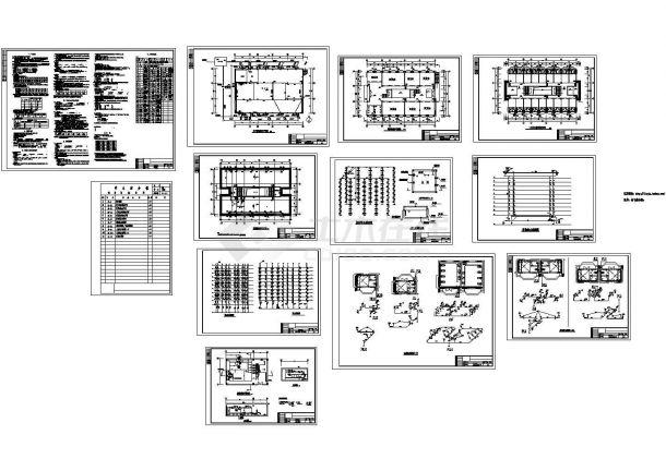 长33米 宽21.6米 -1+9层学生宿舍给排水设计图-图一