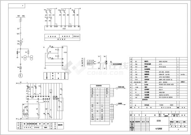 空压机高压柜电气原理图设计-图一