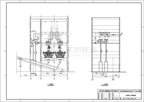 新疆某电厂循环水泵房、油泵房、空压机房采暖通风图纸-图二