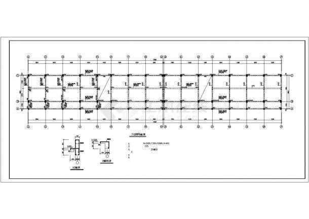 某小学教学楼框架结构设计施工图纸-图二