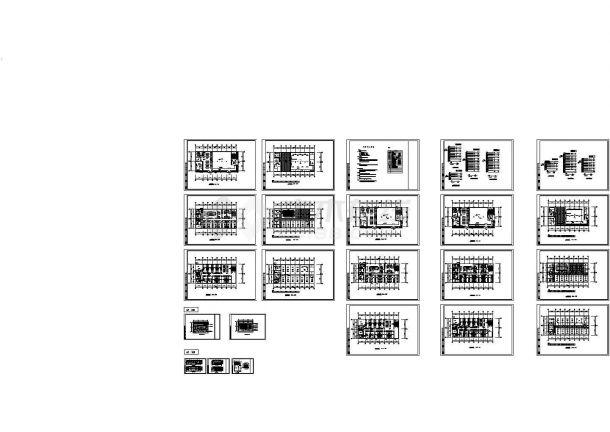 综合楼建筑电气施工建筑设计cad图,共二十三张-图一