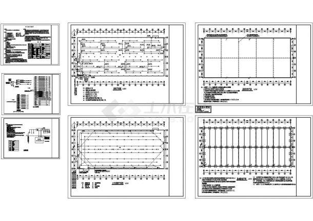 某3477㎡单层厂房电气施工图纸-图一