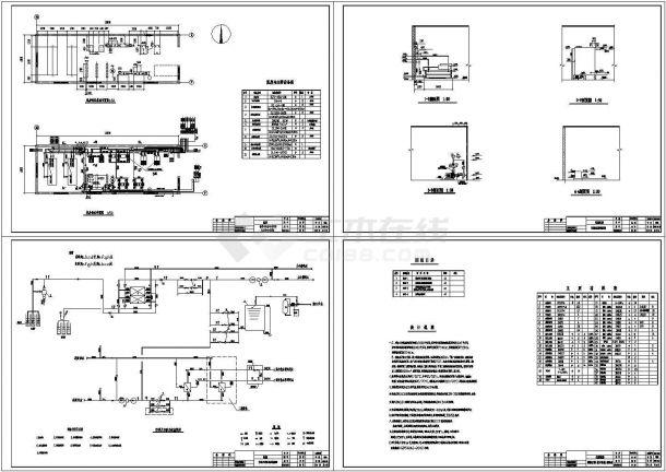 某科技园区水源热泵工程cad设计施工图-图一
