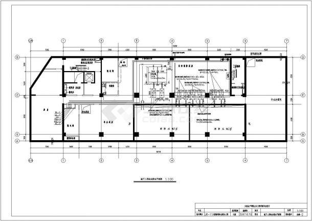 某11层大厦给水排水全套施工图(优秀毕业设计)-图一