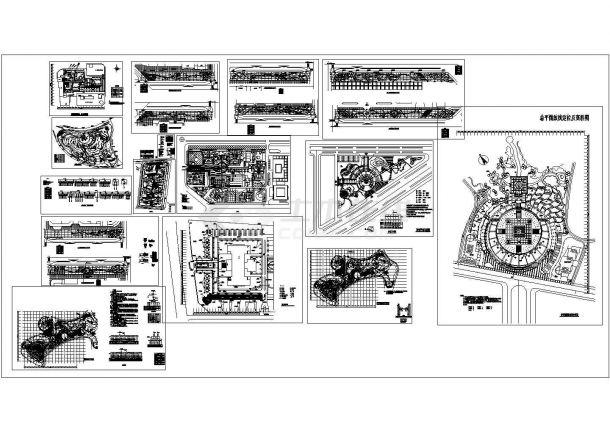 景观设计分类细部大全—照明系统设计cad图纸-图一